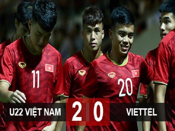 U22 Việt Nam thắng Viettel sau ba hiệp đấu trong trận giao hữu