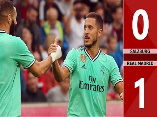 Hazard tỏa sáng giúp Real Madrid thắng 1-0 Salzburg