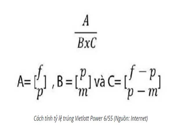 Cách tính xác suất trúng Vietlott 6/55